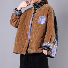 Gender: Women Item Type: Jackets/ Coats Material: Cotton Pattern Type: Solid Theme:Autumn, Winter Occasion:Going Out, Daily Style:CasualSize: One SizeLength: cm/ ''Bust: cm/ ''Shoulder: cm/ ''Sleeve Length: cm/ '' Autumn Fashion Women Fall Outfits, Womens Fashion, Vintage Cotton, Daily Fashion, Corduroy, Going Out, Men Sweater, Clothes For Women, Sewing