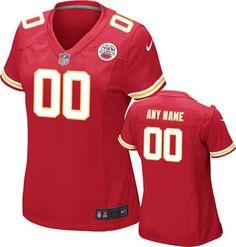 623aaa215 Kansas City Chiefs Jersey  Women s Nike Home Red Game Replica Customizable NFL  Jersey Kansas City