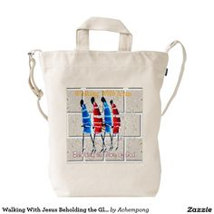 Walking With Jesus Beholding the Glory of God Duck Canvas Bag #Walking With #Jesus #Beholding the #Glory of #God #Duck #Canvas #Bag