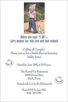 western bridal shower invitations   ... western theme save the date wedding magnets western wedding favors