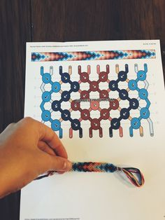salmon Yellow orange bright blue diamond and triangle pattern handmade woven friendship bracelet