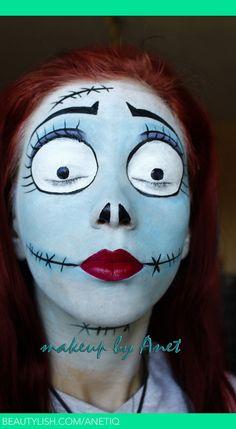 Corpse Bride Halloween Nightmare Before Christmas Face Paint - 2014 DIY Makeup  #2014 #Halloween