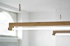 Ninebyfour from Waarmakers is made from Stadshout; salvaged wood from Amsterdam trees.   Modern delight with LED.