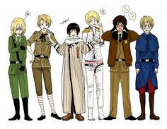 ...well this is awkward. France as England. England as France. Romano as America and America s Romano. Don't even get me started on Japan and Russia-san...