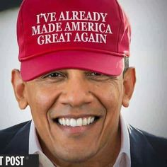 A collection of humorous political memes and parodies featuring President Barack Obama.: Obama Already Made America Great Again Black Presidents, Greatest Presidents, American Presidents, American History, Canadian History, American Pride, American Art, First Black President, Mr President