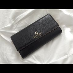 Kate Spade Wallet Kate spade black wallet ️️ only shipping is included with price! Email me for more info sandrivera24@gmail.com kate spade Bags