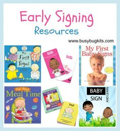 Our Favourite Early Sign Resources » BusyBug Kits. Pinned by SOS Inc. Resources. Follow all our boards at pinterest.com/sostherapy/ for therapy resources.