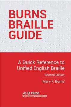 NEW in the AFB Store! The Burns Braille Transcription Dictionary has been revamped as the Burns Braille Guide to usher in the new era of Unified English Braille (UEB). This easy-to-use reference guide includes common braille to print and print to braille conversions as well as punctuation, new UEB contractions, and general rules and terminology: http://www.afb.org/store/Pages/ShoppingCart/ProductDetails.aspx?ProductId=978-0-89128-717-9&ruling=Yes (Image: the cover of the Burns Braille Guide)