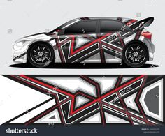 Find Rally Car Decal Graphic Wrap Vector stock images in HD and millions of other royalty-free stock photos, illustrations and vectors in the Shutterstock collection. Car Stickers, Car Decals, Vinyl Decals, Car Lettering, Racing Car Design, Racing Stripes, Car Drawings, Rally Car, Car Wrap
