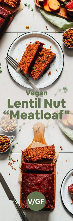 """Vegan lentil """"meatloaf"""" super easy to make and so delicious! Just 10 ingredients everyday ingredients required an amazing option for the holidays and Christmas. Vegan Meatloaf, Meatloaf Recipes, Baker Recipes, Cooking Recipes, Minimalist Baker, Meat Loaf, Vegan Thanksgiving, Vegan Dinners, Plant Based Recipes"""