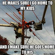 If you can't accept that you have no business on the line. Lineman Love, Power Lineman, Electrical Lineman, Journeyman Lineman, Lines Quotes, Birth And Death, Funny Posters, Sarcasm Humor, Fun Facts