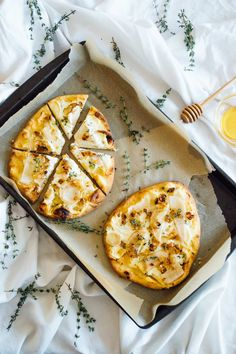 Pear Naan Pizza recipe with Honey Whipped Goat Cheese for those weeknights you're too tired to make anything else. And also, because....pizza.