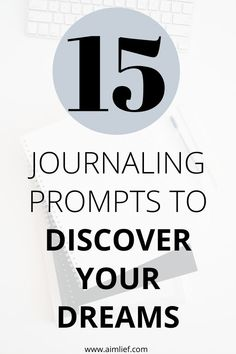 15 Journal Writing Prompts to Discover your dreams in life. Know yourself better with these journaling prompts Self Development, Personal Development, Writing Therapy, Journal Questions, Journal Writing Prompts, Self Improvement Tips, Self Discovery, Positive Mindset, Organisation