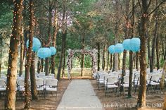 beautiful setting for an outside wedding in Luther, OK