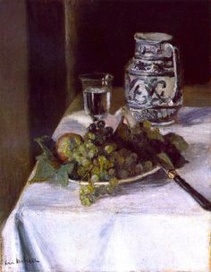 Still Life with Grapes / Henri Matisse - circa 1896