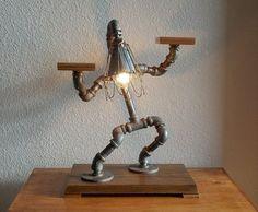 Industrial Table Desk Lamp por Splinterwerx en Etsy