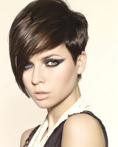 Best Hairstyles For Asian Women....I care more about the asymmetric cut here!