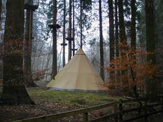 Teepee in Grizedale forest, Lake District, UK