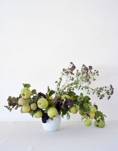 Louesa Roebuck quince and time flower arrangement