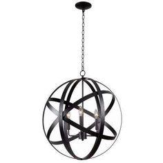 Global 3-Light Black Pendant 189.00