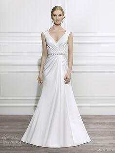 Moonlight Tango fall 2014 #bridal collection: cap sleeve #wedding dress style T647 #weddingdress #weddinggown