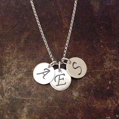 Initialsmykke i sølv Name Jewelry, Dog Tags, Dog Tag Necklace