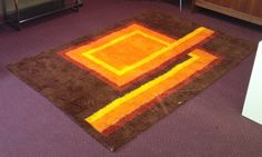 Vintage 1960s Colorful Mod Mid Century RUG  RYA by Dead50sModern, $350.00
