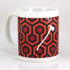 Horror Coffee Mug - The Shining Carpet Pattern - 11 Ounce Coffee Mug - Cult Classic Coffee Mug - Tea Cup by ShirtAndCup on Etsy https://www.etsy.com/listing/248903003/horror-coffee-mug-the-shining-carpet