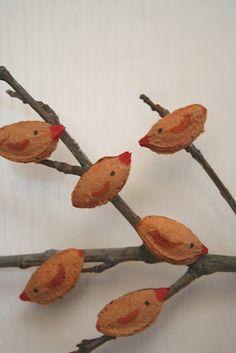 birds from apricot / plum / peach seeds