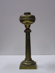 Early c.1850's Bronze or Brass Tall Solar/ Astral Pre-Kerosene Oil Lamp NR EXC