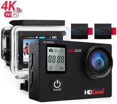 HDCool HC8000 4K Action Camera 16MP FHD 1080P Wifi Waterproof Sports Camera #HDCOOL