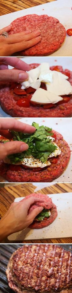 Food Drink: How To Make Caprese Stuffed Burgers