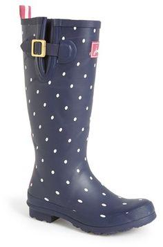 Joules 'Wellyprint' Rain Boot (Women)