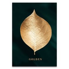Golden Leaf Wall Art Minimalist Nordic Tropical Plants Fine Art Canvas Prints Luxury Pictures For Living Room Dining Room Modern Home Decor Gold Wall Art, Leaf Wall Art, Canvas Wall Art, Canvas Prints, Canvas Frame, Art Prints, Large Wall Art, Canvas Canvas, Nursery Wall Art