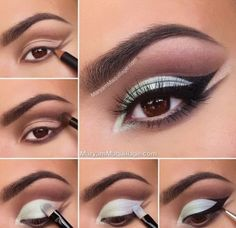 Interesting eye liner technique - #eyeshadow #eyeliner #mintshadow #eyetutorial #eyemakeup - Love beauty? Go to bellashoot.com for beauty inspiration!