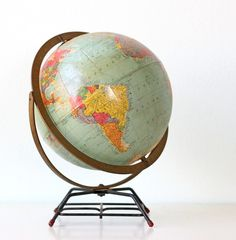 I have a new fascination for globes and maps. This is so pretty!