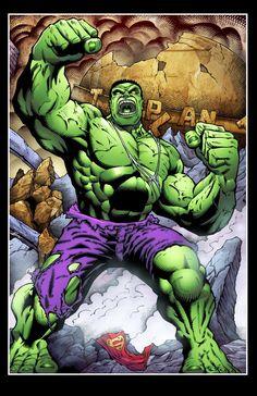 #Hulk #Fan #Art. (Hulk colors) By: Daniel Morales & Somaticjack. (THE * 5 * STÅR * ÅWARD * OF: * AW YEAH, IT'S MAJOR ÅWESOMENESS!!!™) ÅÅÅ+