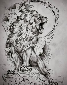 Эскизы тату львов • Значение татуировки со львом Lion Head Tattoos, Body Art Tattoos, Sleeve Tattoos, Tattoo Sketches, Tattoo Drawings, Art Sketches, Lion Tattoo Design, Tattoo Designs, Tiger Tattoodesign
