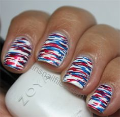 Top Trendy Patriotic Nail Art Ideas For The Fourth Of July - fashonails Pretty Nail Designs, Colorful Nail Designs, Toe Nail Designs, Fingernail Designs, Colorful Nails, July 4th Nails Designs, 4th Of July Nails, Diy Nails, Cute Nails