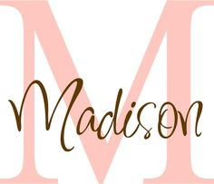 Personalized Kids Girls Name/Initial Wall Decals by astickyplace, $35.00