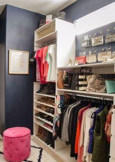 Пуф в гардеробной