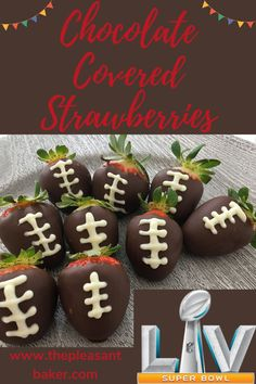 Going to a super bowl party and don't know what to bring? Follow along my tutorial to learn how easy it is to make chocolate covered strawberries! These are a great super bowl snack for 2 :) #thepleasantbaker #superbowlsnackfor2 #chocolatecoveredstrawberries Chocolate Covered Strawberries, Chocolate Dipped, Superbowl Desserts, Cake Decorating For Beginners, Baked Chips, Gingerbread Cookies, Sweet Tooth, Dessert Recipes, Desert Recipes