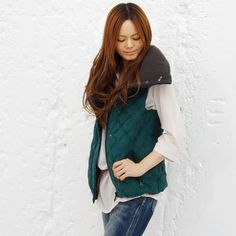 Down Vest / ShopStyle: Cloche クロッシェ ビッグカラーベスト - shopstyle.co.jp