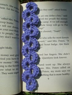 Scrap Yarn Crochet: Free Lavender Lace Bookmark Crochet Pattern