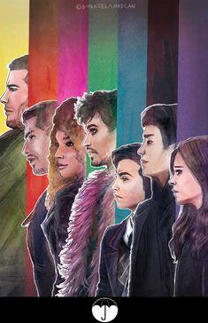 Read Umbrella Academy al completo from the story Fanarts T. Funny Umbrella, Umbrella Art, Under My Umbrella, Hunger Games, Films Netflix, Cinema Tv, Dysfunctional Family, Book Cover Art, Film Serie