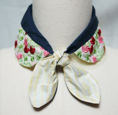 Silk scarf  collar by couturierholiday on Etsy, $30.00