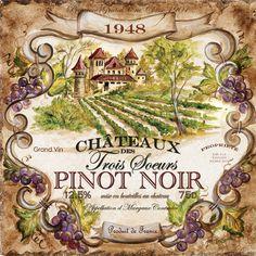 vintage wine labels for sale | Wine Label Pino Noir 1