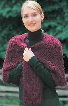 Quick and Easy Shawl Knitting Pattern | FaveCrafts.com
