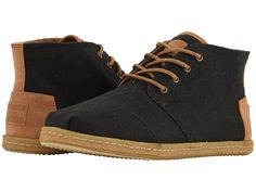d1a23c2b616 TOMS Chukka (Black Melange Woven) Men s Lace up casual Shoes. With every  pair of shoes you purchase TOMS will give a new pair of shoes to a c…
