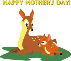 Mother's Day Clip Art ~ Free Clipart for Mom! Cute Animals With Funny Captions, Cute Animals Puppies, Cute Baby Animals, Mother's Day Clip Art, Cartoon Mom, Love You Mum, Deer Art, Cute Animal Videos, Happy Mothers Day